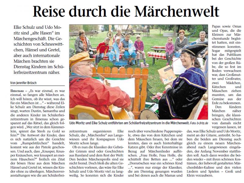 Bild von dem Zeitungsartikel Märchenwald