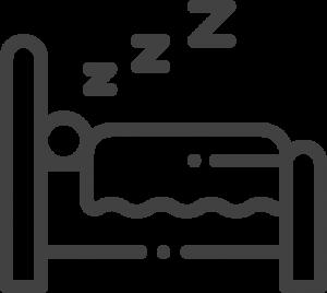 Bild von einem Bett